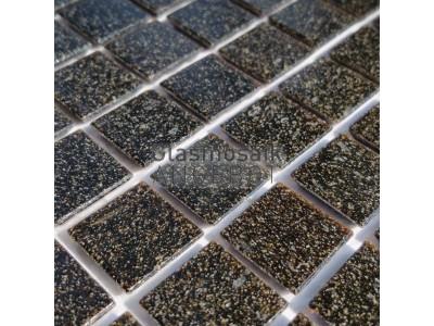 Mosaique de verre noire