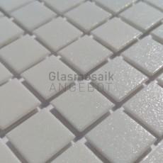Mosaique de verre blanc
