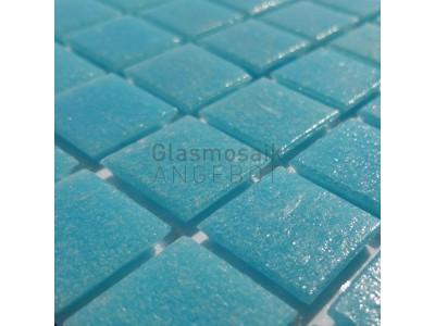 Mosaique de verre bleu clair