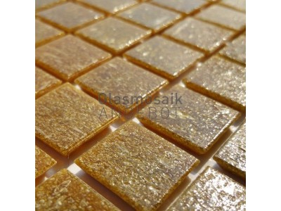 Mosaique de verre caramel